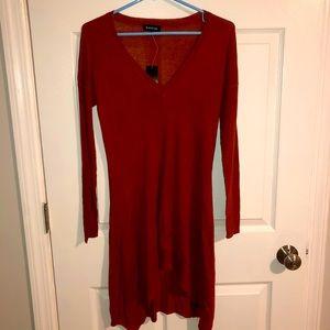 NWT bebe copper colored sweater tunic